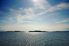 sikt för 01 öar Arkivfoto