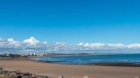 Sikt för Aberdeen stadskust, Skottland Arkivfoton