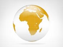 Sikt för Afrika guld- planetbakgrund Arkivfoto
