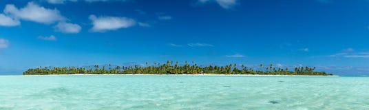 Sikt för Aitutaki Polynesien kockIsland tropisk paradis Royaltyfria Foton