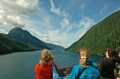 sikt för alaska insidapassage Royaltyfria Bilder