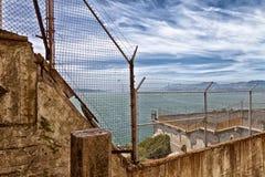 Sikt för Alcatraz fångegård Arkivbilder
