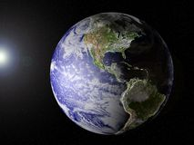 sikt för Amerika jordplanet stock illustrationer