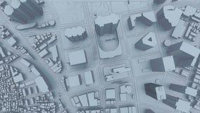 Sikt för animering för Tokyo stadsShinjuku område 3D flyg- stock illustrationer
