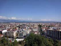 Sikt för Antalya Manavgat stadsfågel arkivfoton