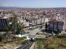 Sikt för Antalya Manavgat stadsfågel royaltyfria bilder