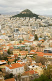 sikt för athens lycabettusmontering Royaltyfria Bilder