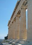 sikt för athens slutgreece parthenon Royaltyfri Bild