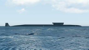 Sikt för atomubåtBorei sida Royaltyfria Bilder