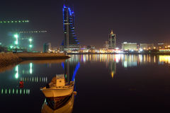 sikt för bahrain stadsnatt Royaltyfri Fotografi