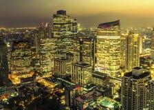 Sikt för Bangkok stadsnatt Fotografering för Bildbyråer