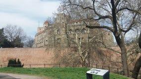 Sikt för Belgrade slotttur Arkivfoto