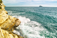 sikt för benidorm kust s Royaltyfri Foto