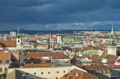 sikt för brno tjeckisk republikhorisont Royaltyfria Bilder