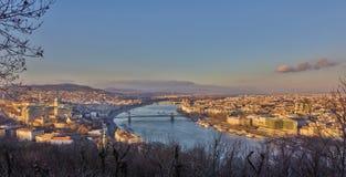 sikt för budapest gellertkull Fotografering för Bildbyråer