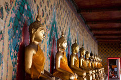 sikt för buddha sidostaty Fotografering för Bildbyråer