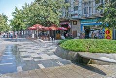 Sikt för Burgas stadsgata Arkivbild
