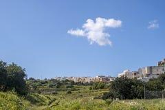 Sikt för bygd för Malta Swieqi norr regionstad Royaltyfri Bild
