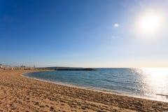 Sikt för Cannes stranddag, Frankrike Royaltyfria Foton