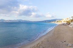 Sikt för Cannes stranddag, Frankrike Royaltyfria Bilder