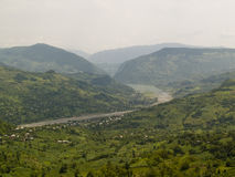 sikt för caucasgeorgia berg Royaltyfri Fotografi