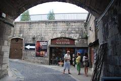 Sikt för citadellBudapest Ungern, Arkivfoton
