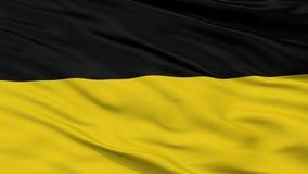 Sikt för Closeup för Habsburg monarkiflagga arkivfoto