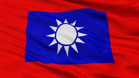 Sikt för Closeup för Republiken Kina arméflagga arkivfoton