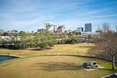 Sikt för Columbia South Carolina stadshorisont från en förbise Arkivbilder