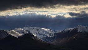 Sikt för Cumbrian bergvinter Royaltyfri Fotografi