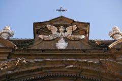 Sikt för dag för Florence stadskyrka Arkivbild