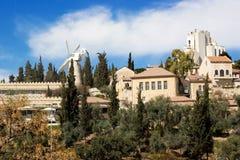 Sikt för dag för Jerusalem cityscapegränsmärke Royaltyfri Bild