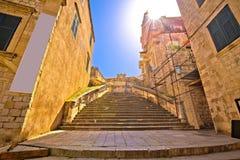 Sikt för Dubrovnik historisk momentgata arkivbild