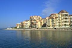 Sikt för Elenite semesterortglans, Bulgarien arkivfoton