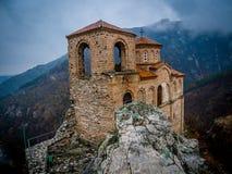 Sikt för fästning/för berg för Asen ` s - Bulgarien, Asenovgrad Royaltyfria Bilder