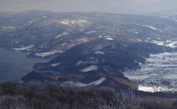 Sikt för fågelöga av berget Fotografering för Bildbyråer