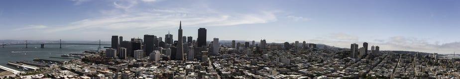 Sikt för fågelöga av en San Francisco Royaltyfri Foto
