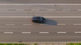 sikt för fågelöga av stockholm trafik, Sverige lager videofilmer