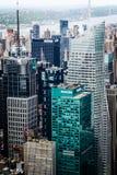 Sikt för fågelöga av Times Square Arkivfoto