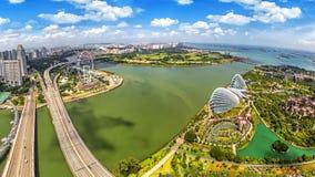 Sikt för fågelögon av Singapore stadshorisont Fotografering för Bildbyråer