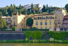 Sikt för Florence flodbank Arkivbild