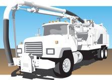 Sikt för främre sida för Eductor lastbil Arkivfoton