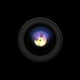 Sikt för framdel för kameralins Arkivfoton
