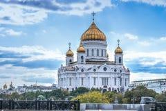 sikt för fyrkant för domkyrkachrist moscow russia frälsare Royaltyfri Foto