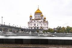 sikt för fyrkant för domkyrkachrist moscow russia frälsare Royaltyfria Foton