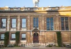 Sikt för gård för Clare högskola inre, Cambridge Arkivbilder