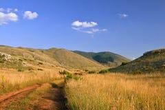 sikt för galichicamacedonia nationalpark arkivbilder