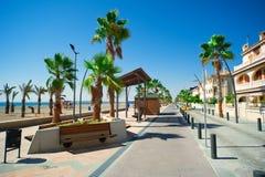 sikt för gata för blanca-costa allmän Arkivbilder