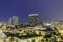 Sikt för gata för Miami södra strandnatt Royaltyfria Bilder