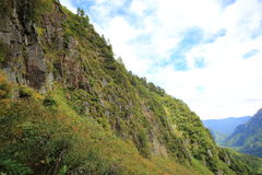 sikt för högst horisontalkilimanjaroklilimanjaro för berg för africa övre tak för mt Yakedake norr fjällängar, Nagano, Japan Royaltyfri Foto